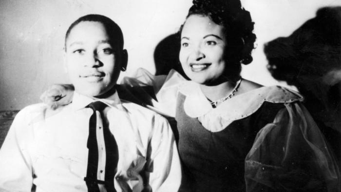Mamie Till-Mobley and her son, Emmett.