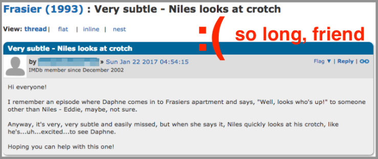 Imdb-message-boards-frasier